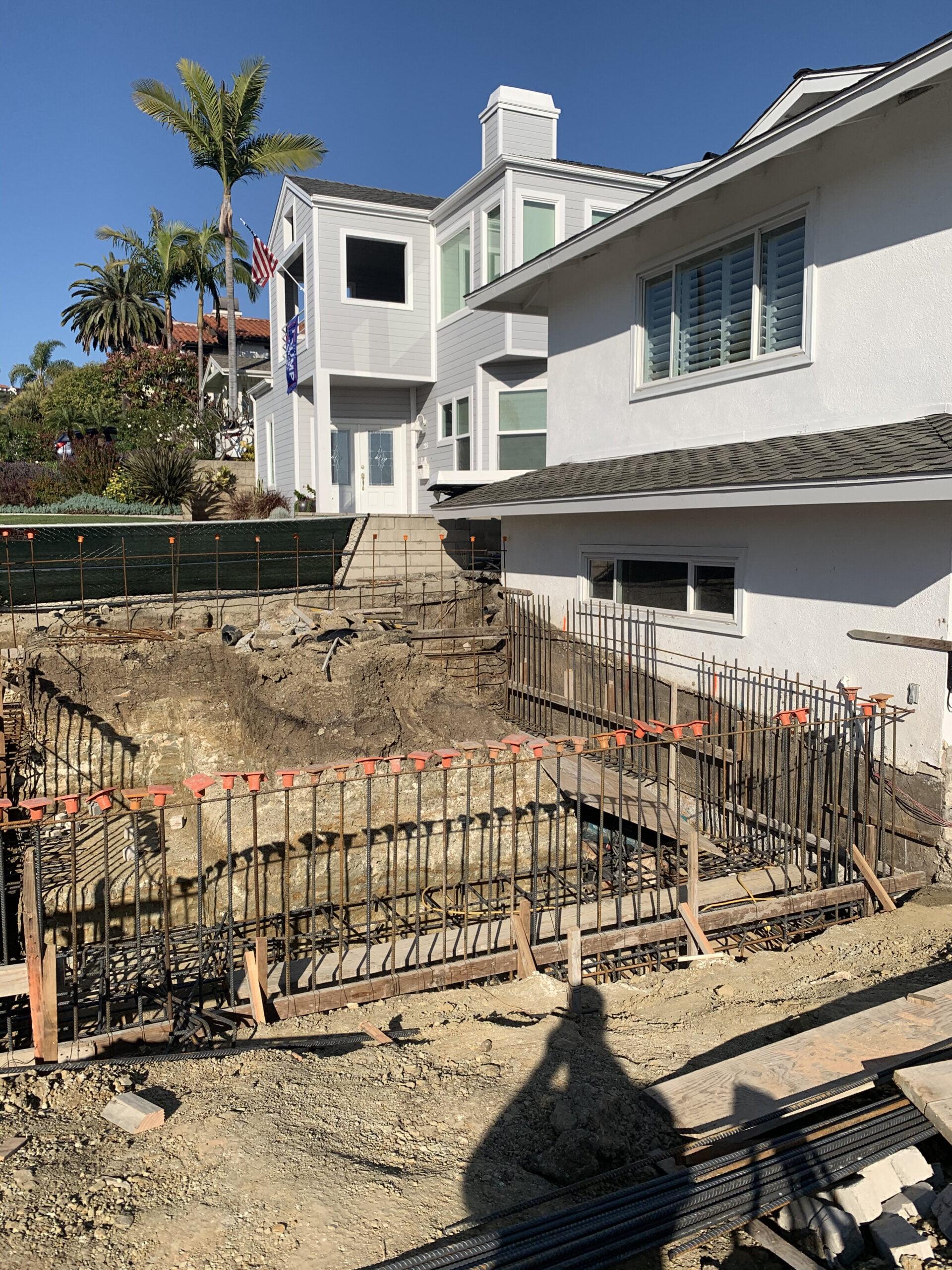 Veteran Builders Balcony Build Excavation and Rebar