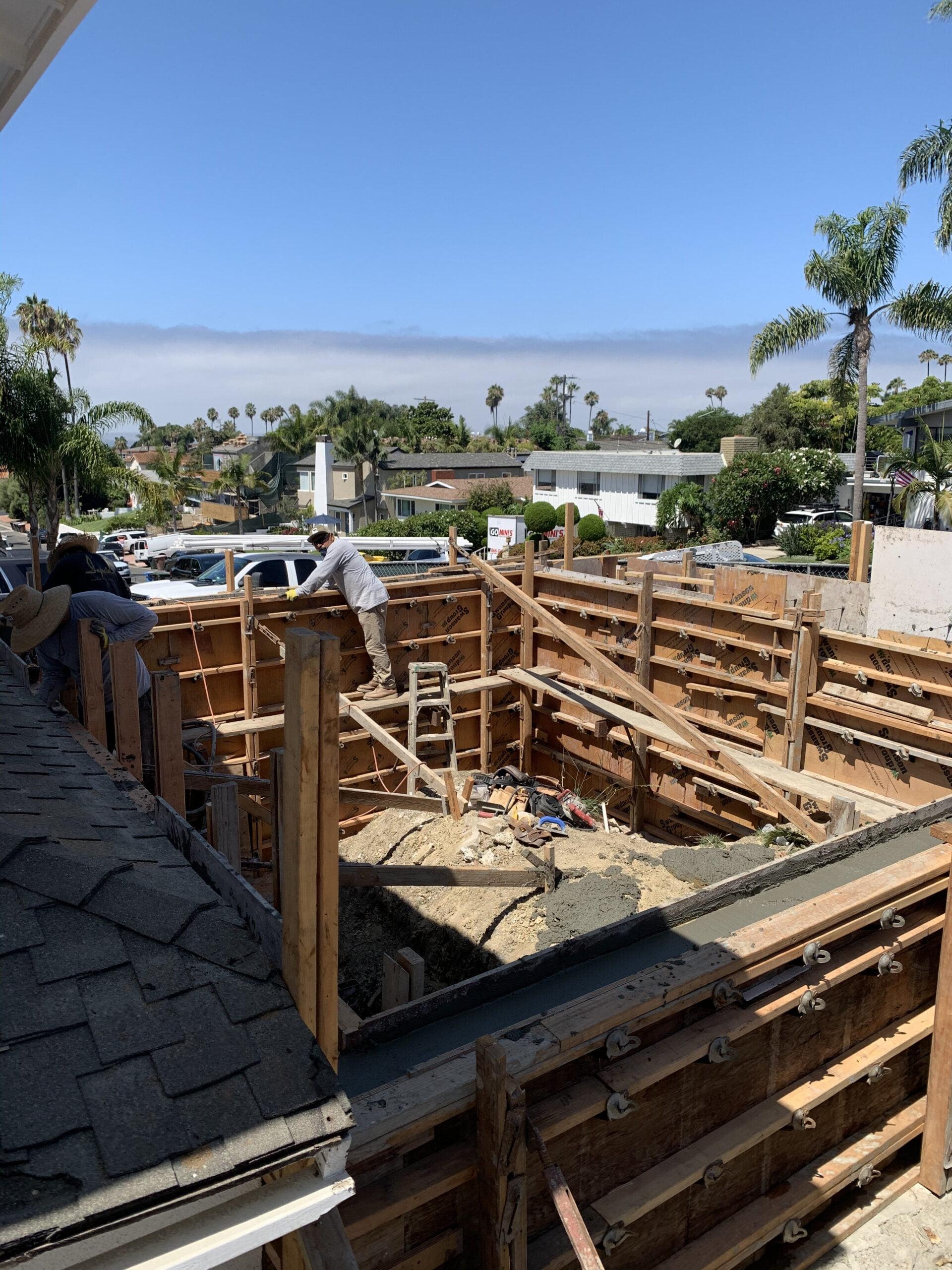Veteran Builders Balcony Build Pour in Place Concrete Walls